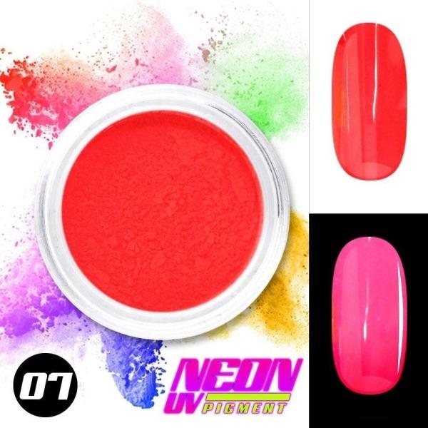 Neon pigment / pulver - Röd 07