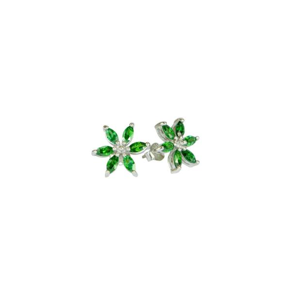 Örhänngen - grön blomma - Trej