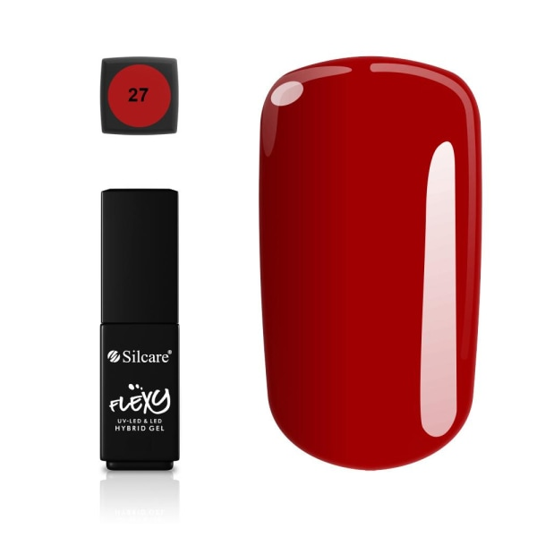Silcare - Flexy - Hybrid gel - Color: 27 - 4,5 gram Mörkröd