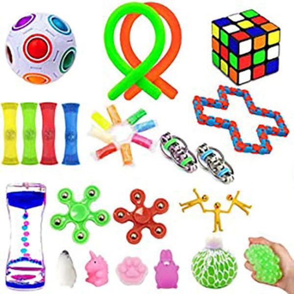 30st, Fidget Toys Set för barn och vuxna, fester flerfärgad