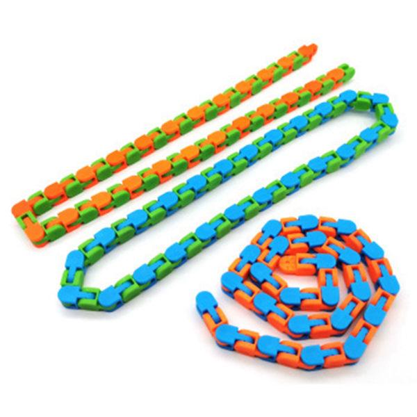 3st, Wacky Tracks Snap and Click Fidget Toy, Puzzle Educational flerfärgad 3
