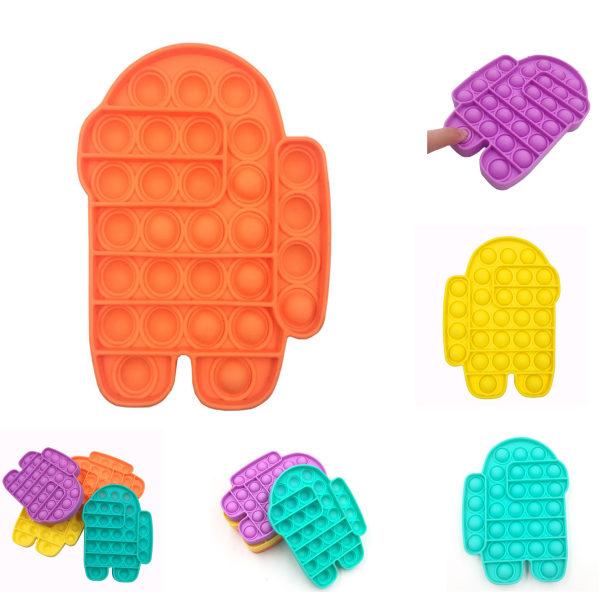 Pop It-Fidget Toy, Relax Antistress Sensorisk, Among Us, Orange orange