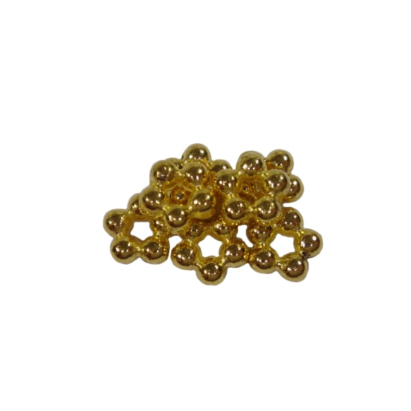 100st Guldfärgade Pärlor Blommor 5,2mm Nickelfria guld 5 mm