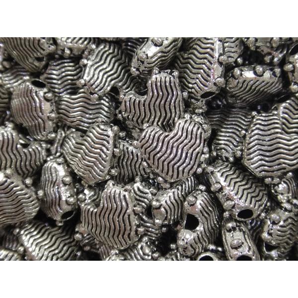 20st Metallpärlor Hjärtan 9,4mm Nickelfria