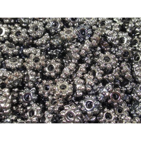 300st Mörka Pärlor Blommor 4 mm