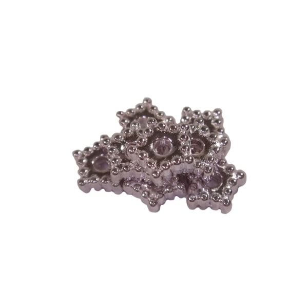 600st Silverfärgade Pärlor Stjärnor 5,7mm Nickelfria silver