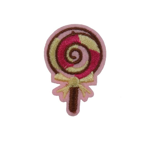 6st Tygmärken -Godisklubba - Storlek 4,5cm rosa