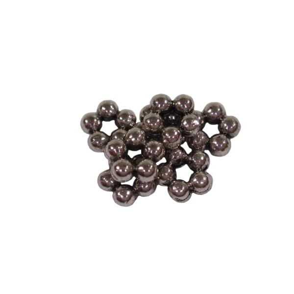 500st Metallfärgade Pärlor Blommor 5,2mm Nickelfria 5 mm