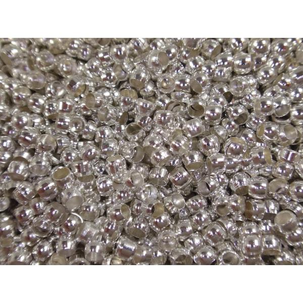 7000st Silverfärgade Klämpärlor 1,8mm Nickelfria