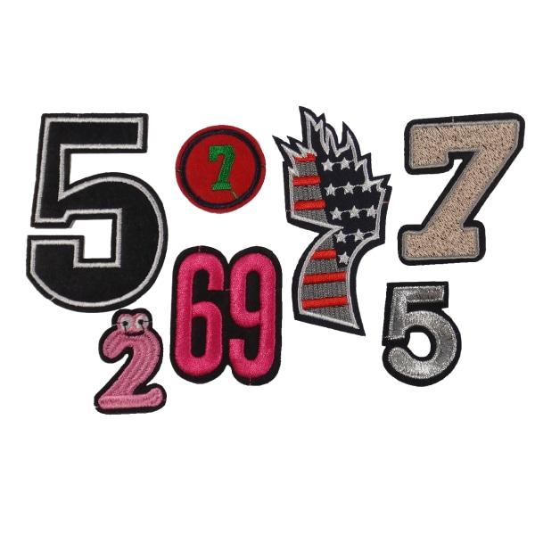 7st Tygmärken - Siffror flerfärgad