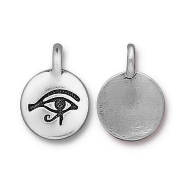 TierraCast berlock Eye Of Horus, 11.7x16.5mm, silverpläterad, 1s