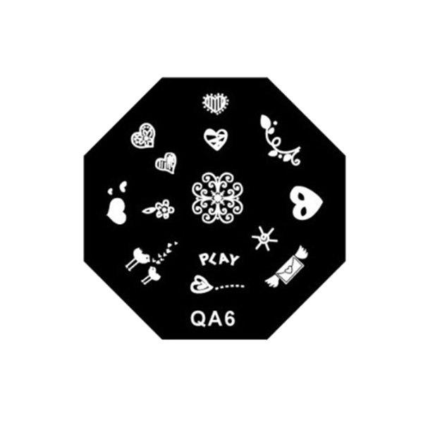 1 nagelmallar stämpel platta olika design snöflingor/stjärnor/strumpa