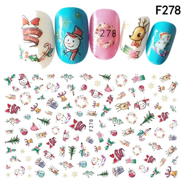 2 stora ark nagelstickers katter jul tid