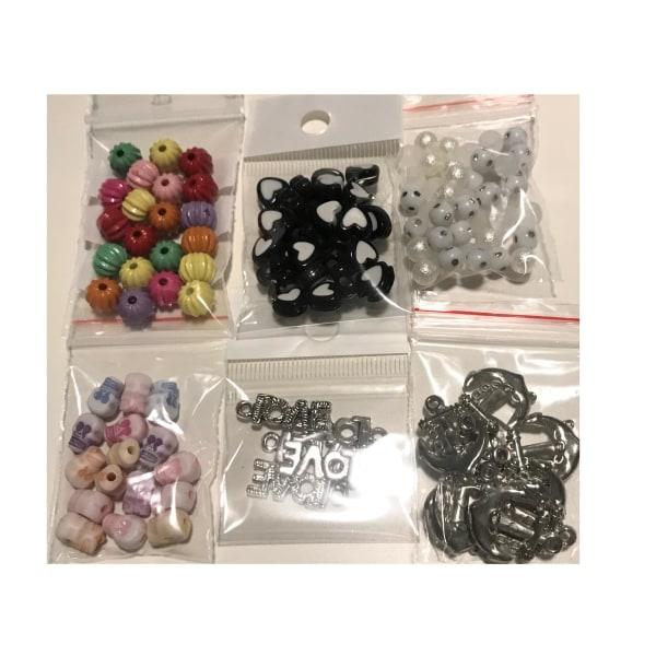 6 påsar blandade fina pärlor 30 gram