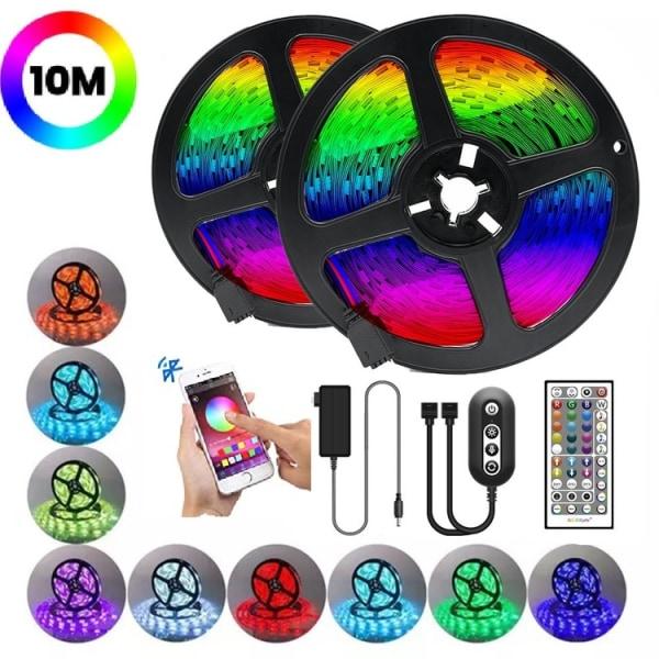 LED Strip med RGB 16,7miljoner / Bluetooth / LED-list - 10m