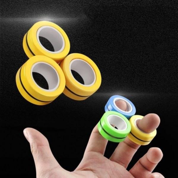 Populära Magnetiska magiska ringar - anti stress - Grön Grön