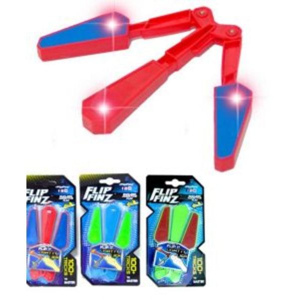 Flip Finz - fidget spinner - trick leksak - röd röd