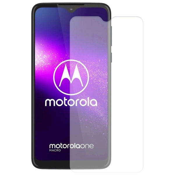 2-Pack Motorola One Macro Härdat Glas Skärmskydd 0,3mm  Transparent