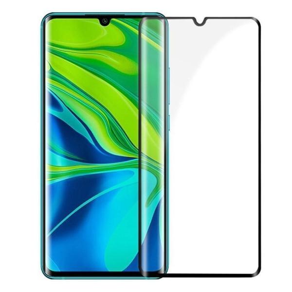 Xiaomi Mi Note 10 Lite Heltäckande 3D Härdat Glas Skärmskydd Transparent