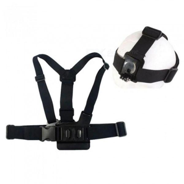 Bälten till Actionkamera för huvud och kropp (set med 2 stycken)