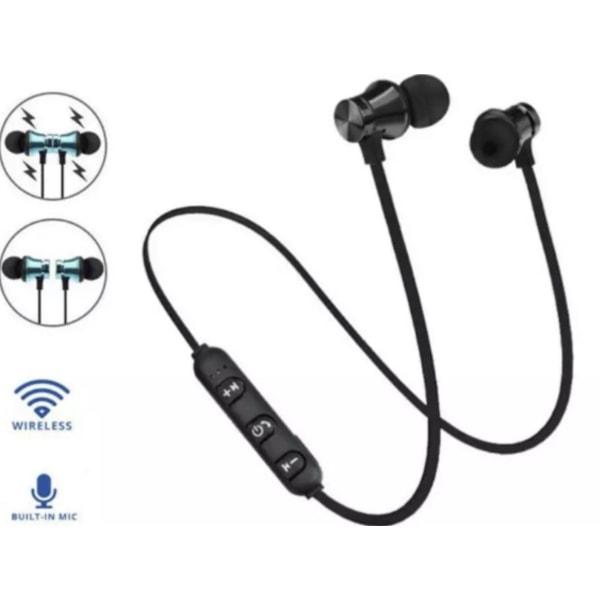 Magnetiska Trådlösa Sporthörlurar - Bluetooth 4.2 svart