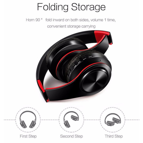 Multifunktion Stereo Bluetooth Headset med Mic, Aux, MP3 player svart
