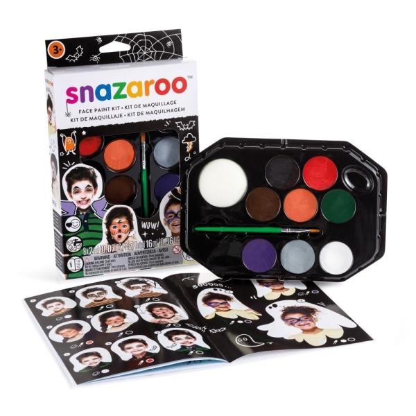 Ansiktsfärg Snazaroo Set Halloween, 8 färger/fp multifärg