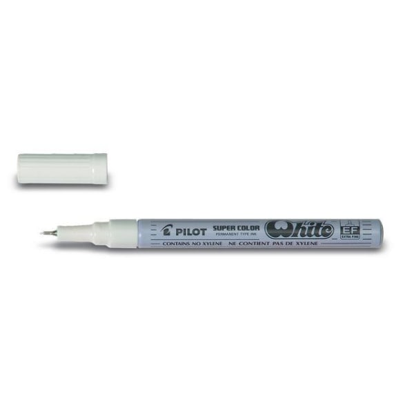 Dekorpenna / märkpenna Pilot Super Color SC-W-EF Extra Fine Vit Vit