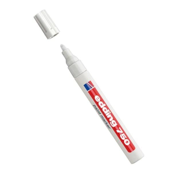 Lackpenna Edding 750 Paint Marker 2-4mm Vit 1/fp Vit