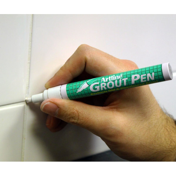 Märkpenna Artline Grout Pen (för gammal / missfärgad puts), Vit Vit