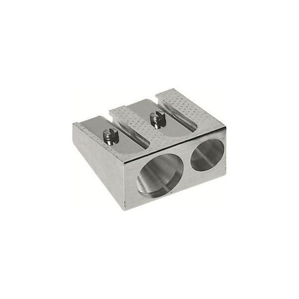 Pennvässare/Pennformerare Faber-Castell 50-34 dubbel metall Silvergrå