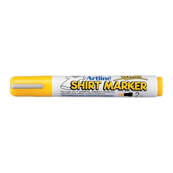 Textilpenna Artline EKT-2 Shirt Marker 2,0mm Gul 1/fp Gul
