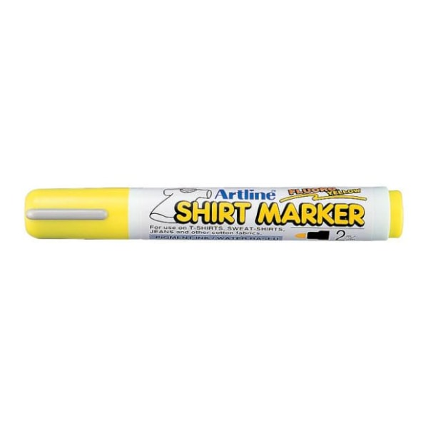Textilpenna Artline EKT-2 Shirt Marker 2,0mm Lysgul 1/fp Gul