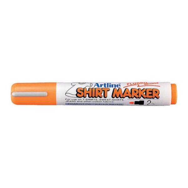 Textilpenna Artline EKT-2 Shirt Marker 2,0mm Lysorange 1/fp Orange