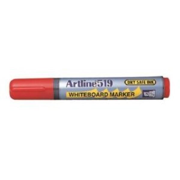 Whiteboardpennor Artline EK-519 Snedskuren spets, Röd 1/fp Röd