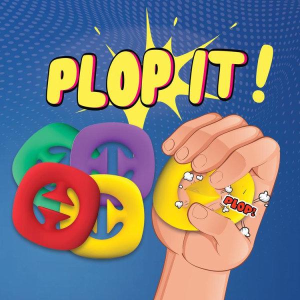 Plop it! - Pop it / Snap Fidget leksak i silicon Gul