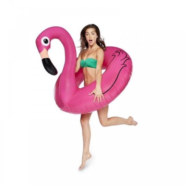 Bigmouth Badring Flamingo - Jättestor - 120cm - Originalet Rosa