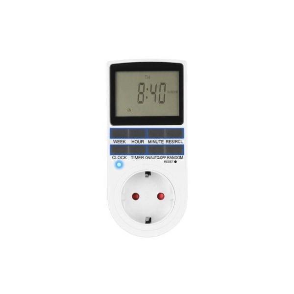 Digital timer för tex belysning  - 10A Vit