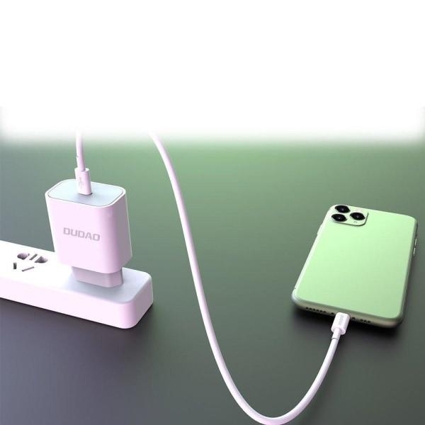 Dudao 18w PD Snabbladdare för iPhone 12 med USB-C Vit