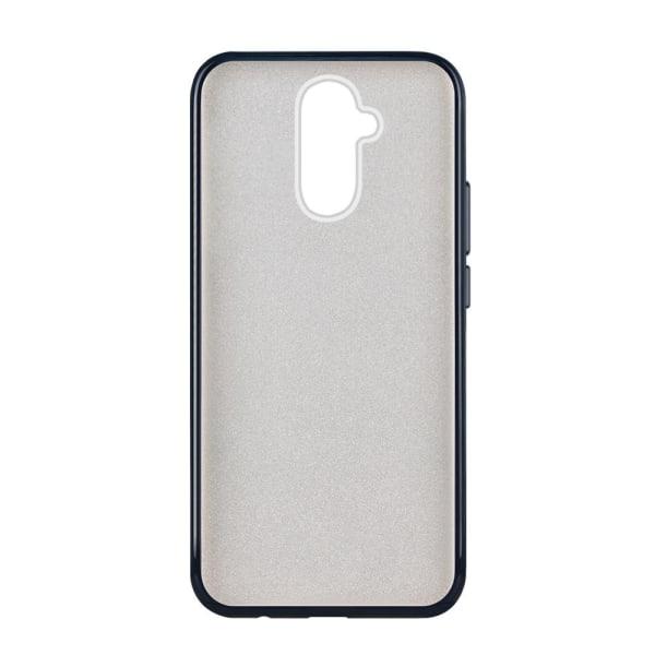 Glitterskal i gummi, Huawei Mate 20 Lite, Svart Svart