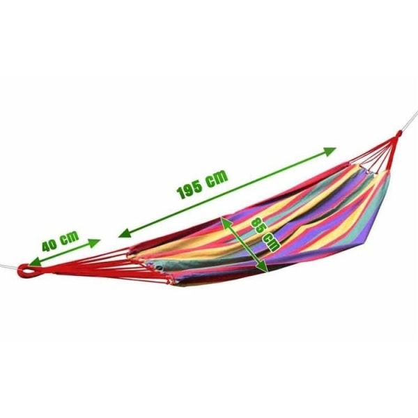 Hängmatta 80 x 205 cm multifärg