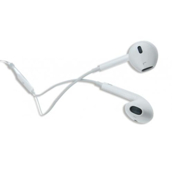 Headset, iPhone med volymkontroll, 3.5mm, Bra kvalitet Vit