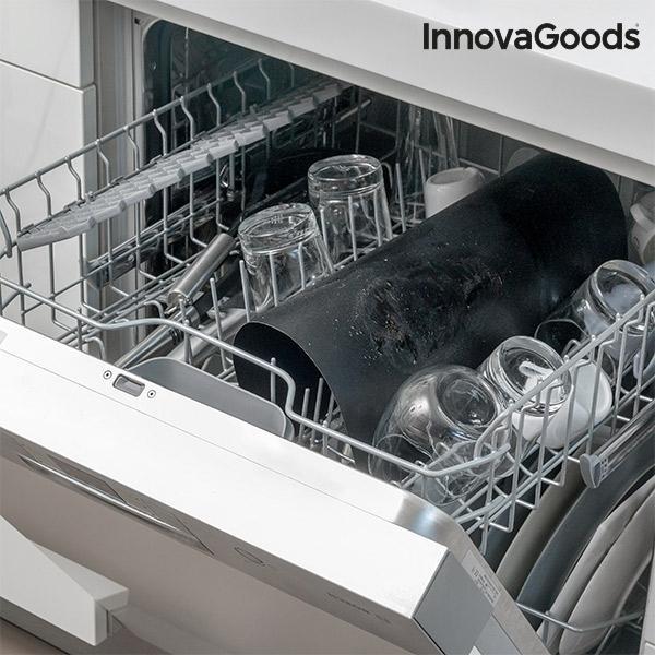 InnovaGoods 2-Pack Teflon Grillmatta / Ugnsmatta Svart