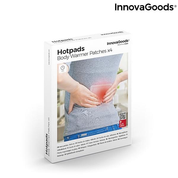 InnovaGoods 4-pack värmeplåster 13cm x 9,5cm Vit