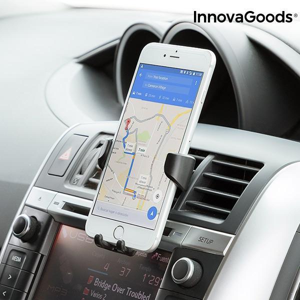 InnovaGoods Gravity bilhållare, Universal för mobiler Svart
