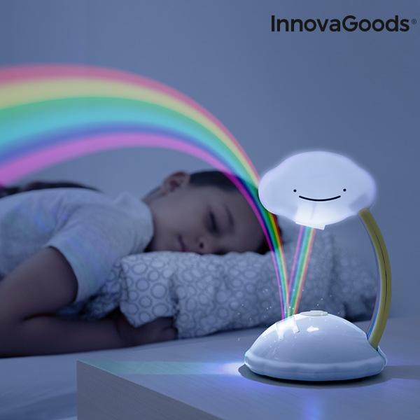 InnovaGoods Nattlampa med regnbågs projektion. Svart