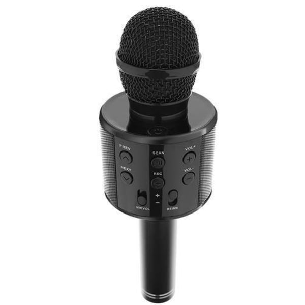 Karaoke mikrofon med högtalare - Svart Svart