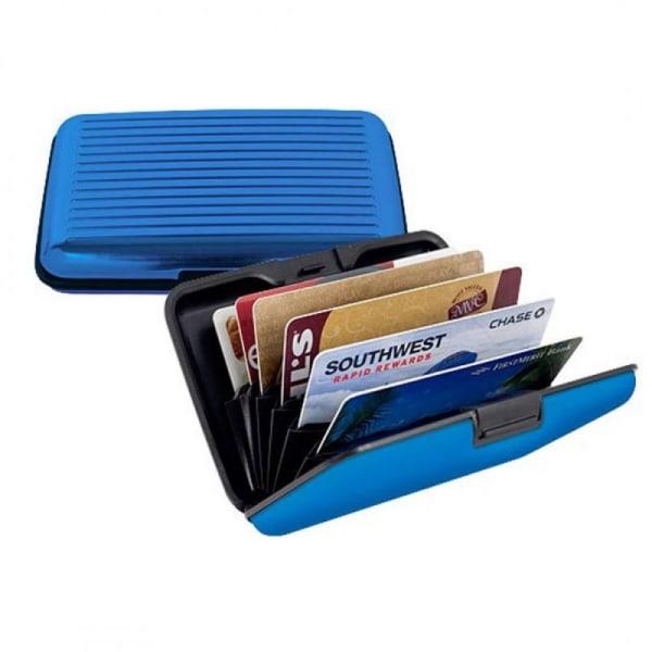 Korthållare i Aluminium - RFID-Säkra Ljusblå one size