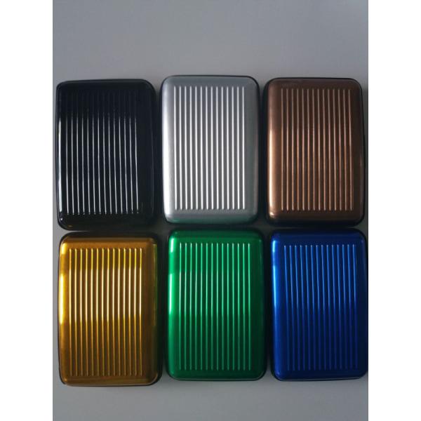 Korthållare i Aluminium - RFID-Säkra Grön