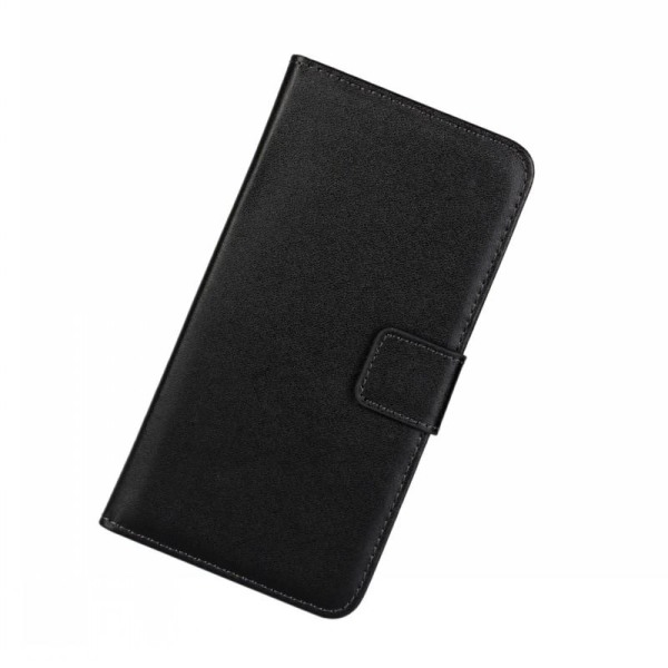 Plånboksfodral Samsung S10 Lite, äkta skinn Svart